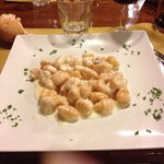 Gnocchi di zucca con crema