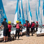 Group learning how to sail