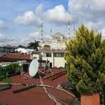 Blue Mosque from the hotel roof.
