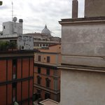 The view of St Peters Basilica from the hotel terrace