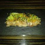 Kingfish sashimi with yuzu-miso dressing
