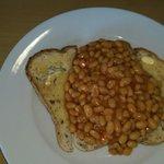 Gluten free beans on toast