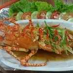 Steamed lobster with soy sauce