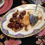 Sausage with walnuts in a maple glaze