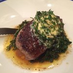 Steak with Kale and herb butter