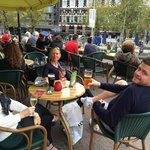 Again chilling near our hotel. This bar  service was always spot on beer @ 6€ a pint average Ams