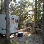 "Large, spacious campsites...peaceful. we hadcplenty of room for our camper, ""outhouse"", and gaze"