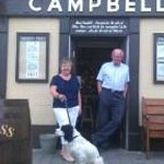 Took this photo of 2 friends with their springer outside campbells in Murrisk 2013