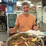 Ron and seafood paella