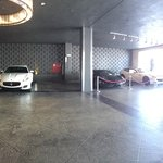 Valet happens to share its lot with Ferrari of Beverly Hills. Not a bad thing!