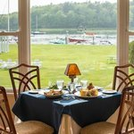 Waterfront dining on the Kennebunk River