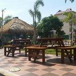 Poolside bar and restaurant