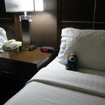 Comfy bed...nice room too.