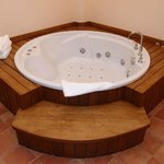 Private jacuzzi in room