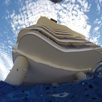 View from the bottom of the pool!!