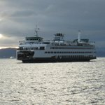 WA State Ferry coming in.