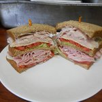 Overstuffed sandwiches our double decker