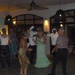 Dancing to the regular evening entertainmet