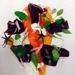 Smoked salmon, beetroot and dill creme fraiche