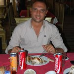 Our Guide Youssef enjoying a great lunch...