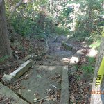 Old CCC walkway now crumbling