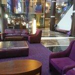 lobby with casino upstairs