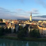 View of Villach during morning