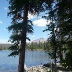 Mirror lake with a slight breeze so no Mirror but still beautiful
