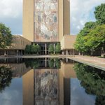 """Touchdown Jesus"" mural on the main library"