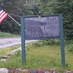 Sign to greet your arrival at Bear Mountain Lodge