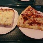 BBQ Chix pizza and Sicilian.
