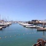 Blick vom Cafe del Puerto auf den Hafen