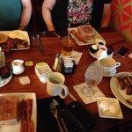 The Big Kahuna, 2 Tonga toast meals, and Steak and eggs