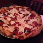 This was our Pepperoni, basil with capers and fresh mozzarella cheese.