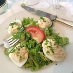 Eggs and mayonnaise, with a wonderfully dressed salad