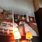 Cute artwork adorns the walls