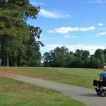 A lovely day to ride a scooter on the paths at the golf course!