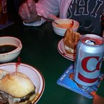 THE PUB - Au Jus, Cup o' Beer Cheese, and Chicken Salad Sandwich