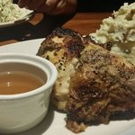 Rotisserie chicken with mashed potatoes. Very good