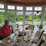 Enjoying Breakfast in the Conservatory