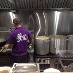 Owner Mr. Nishioka is making ramen