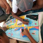 Posca Surf Art Challenge at 2014 Rip Curl GromSearch
