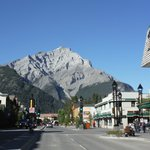entering the town of Banff
