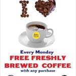 FREE coffee every Monday!