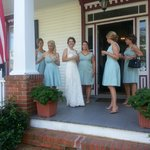 Bridal Party on  the Porch
