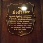 Sign explaining the Beefeater story, Beefeater Steak House  |  3286 13 Ave SE, Medicine Hat, Alb