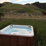 Outdoor Hot Tub at The Mission Farmhouse.