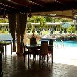 ristorante vista piscina