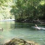 Le Gave d'Aspe, lieu de baignade en été
