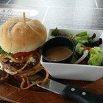 Lamb Burger with salad